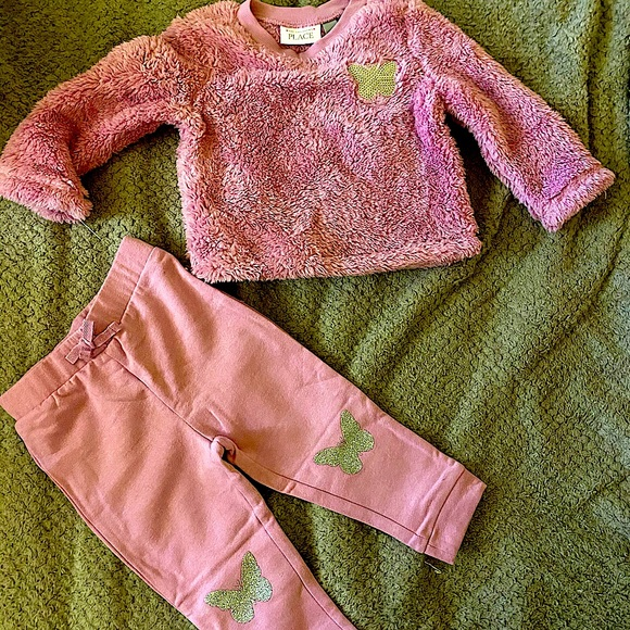 NWT The Children's Place 18-24m Sequined set